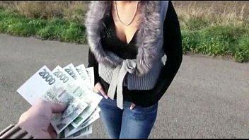 Czech girl Zuzana pussy and asshole ripped for money