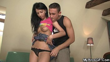 She Rides Her BF's Bro Cock And Gets Busted