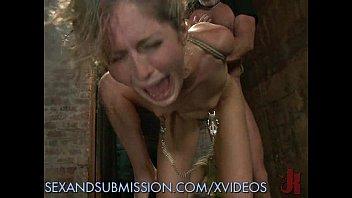 Blonde sub crying