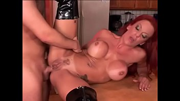 Milf cruiser shannon - Anal loving redhead with huge breasts loves getting pounded on the kitchen bench