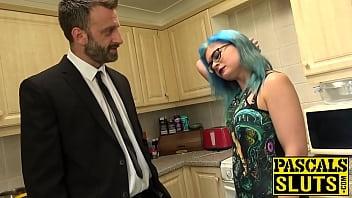 Perfect ass uk Goth vixen caitlin minx bdsm banged before eating jizz