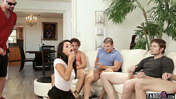 Energy Supplement Made Latina Teen Gina Valentina Suck Many Cocks