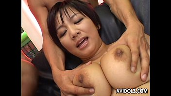 Busty brunette slut has a toy fuck with the boys