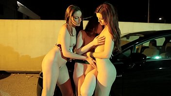 Annabelle lee lesbian Lesbian sluts get horny in a car park and lick each others pussy