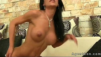 Babe gets anal fucked and creampie on casting
