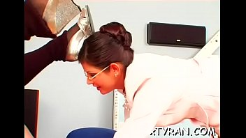 Sexy maid gets butt spanked