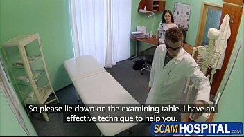 Gorgeous brunette Gabriela gets cured by the doctors dick in the examining table