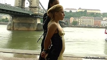 Blonde lick and dp fuck in public group