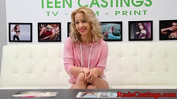 Brutal casting for cum tasting petite teen