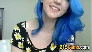 Blue Haired Girl Flowers Plays with Tits Free Porn Camsex Livesex