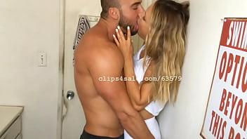 Alfie and Szofia Kissing