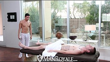 Gay british royal family Manroyale - liam troy gets his ass pounded on the massage table