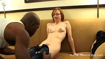 Tiny redhead mature gets fucked by a big black dick image
