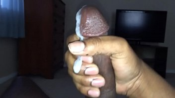 Jerking my black dick until I cum