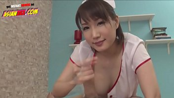 Asian Nurse Gives Perfect Footjob, Titsjob and Handjob