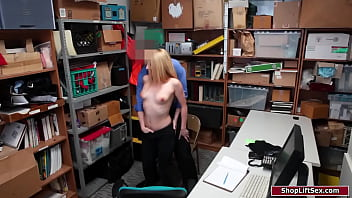 Officer fucks and spanks busty blonde
