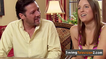 Adventurous american swingers full swap partners in a reality swinging TV show.