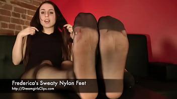 Frederica's Sweaty Nylon Feet - www.clips4sale.com/8983/15683468