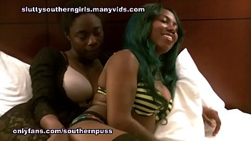 Chantel and Tytianna lesbian fucking and squirting
