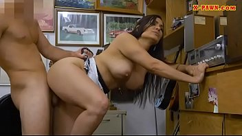 Small tits babe fucked by nasty pawn guy