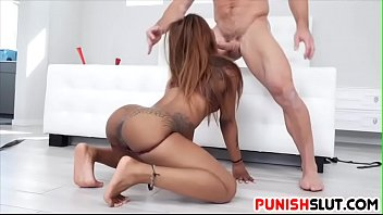 Black Sex slave Sarah Banks Punished Deep in her Gaping Asshole
