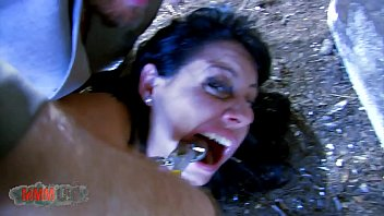 Hardcore anal exorcism of Damaris on the graveyard