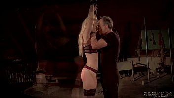 Big tits blonde punished and humiliated in bondage sex thumbnail