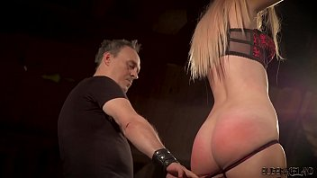 Blond bondage sex - Big tits blonde punished and humiliated in bondage sex