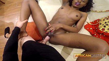 Stunning Ebony Babe Takes Big Cock In Asshole