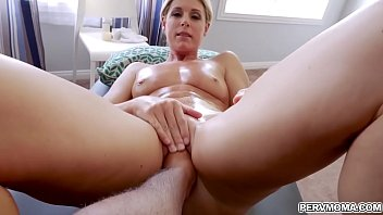 Lucky stepson gets to taste her stepmoms milf pussy and fuck her like a spreadeagle!