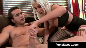 Blonde Euro Fit Puma Swede Bangs Dude & Gets Milky Surprise!