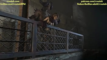 Quiet taking it from behind from Demon Monster 3D Animation