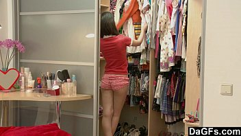 Young Asian Teen Discovering Her Body teen schoolgirl striptease
