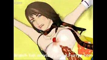 【アニメ】モンスターの触手でパイズリぶっかけされちゃった巨乳お姉さんw