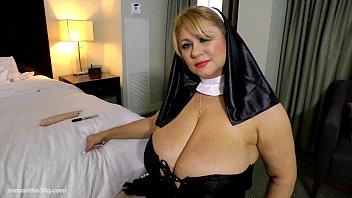 Slutty BBW Legend Dresses Up as Nun N Fucks Herself with Toy thumbnail