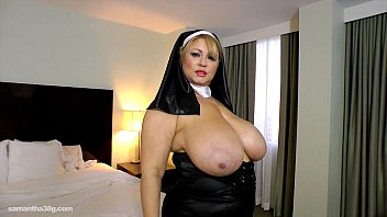 Nun stripped and fucked - Slutty bbw legend dresses up as nun n fucks herself with toy