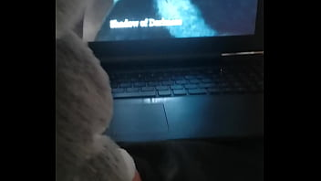 Fucking My furry toy while watching furry porn