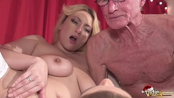 Masturbate men - 2 young girls fuck 2 old men and swallow their cum on chirstmas day