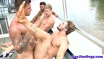 Gay moon sailor Gay sailors enjoying flesh picinic