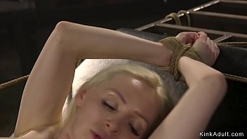 Tied Russian is fucked and cummed