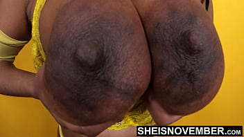 My Giant Nipples & Areolas Pushed Extreamly Close, Msnovember Real Titties Extreme Closeup Of Her Saggy Hooters Bobbing Around, With Enormous Areoa And Huge Nipple on Chesty Topless Babe on Sheisnovember