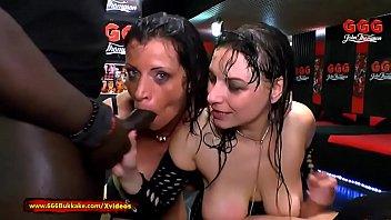 Two German Moms get their Big tits covered in Piss - 666Bukkake