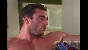 Colt magizen vintage gay art Rod roddick - the muscle hunk jerking his awesome cock