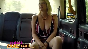 Female Fake Taxi Blonde milf cums on sexy redheads tongue thumbnail