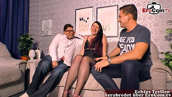 chubby german girlfriend get first time threesome mmf