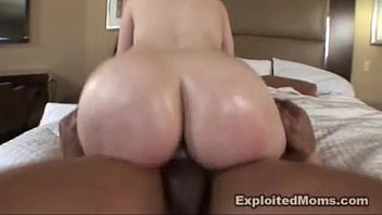 Mature large busted women Milf w amazing big ass rides a large big black cock interracial video