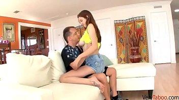 Daddy won't let daughter get away!