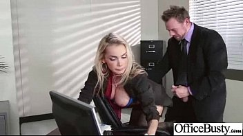Sex In Office With Hungry For Bang Big Tits Hot Girl (devon) video-16