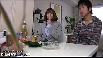 Japanese horny cougar cant resist to young model 14 min