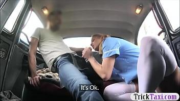 Pretty passenger banged by nasty driver